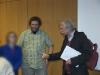 Begrüßung R. Gössners durch den Bildungsreferenten der Falken / Nordniedersachsen