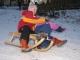 kopfüber in den Schnee